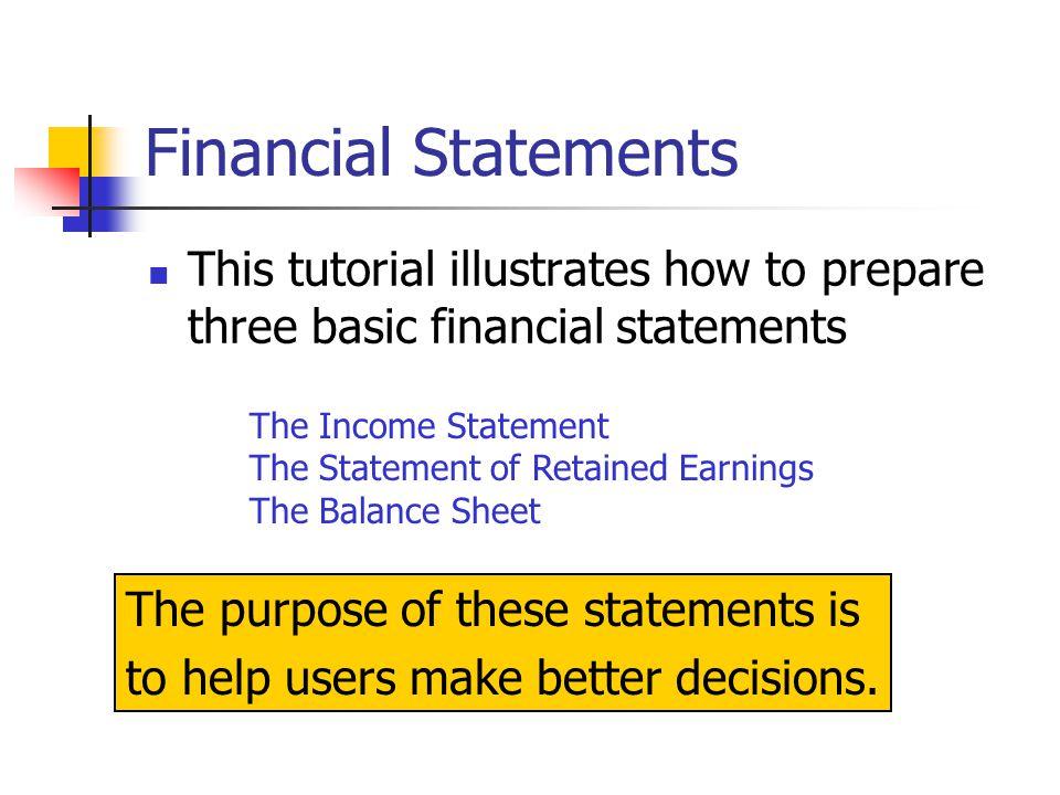 financial statement preparation a tutorial ppt download