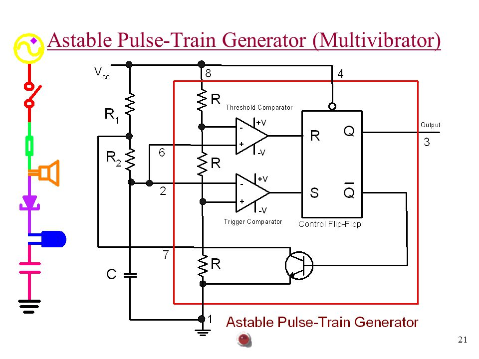 Astable Pulse-Train Generator (Multivibrator)
