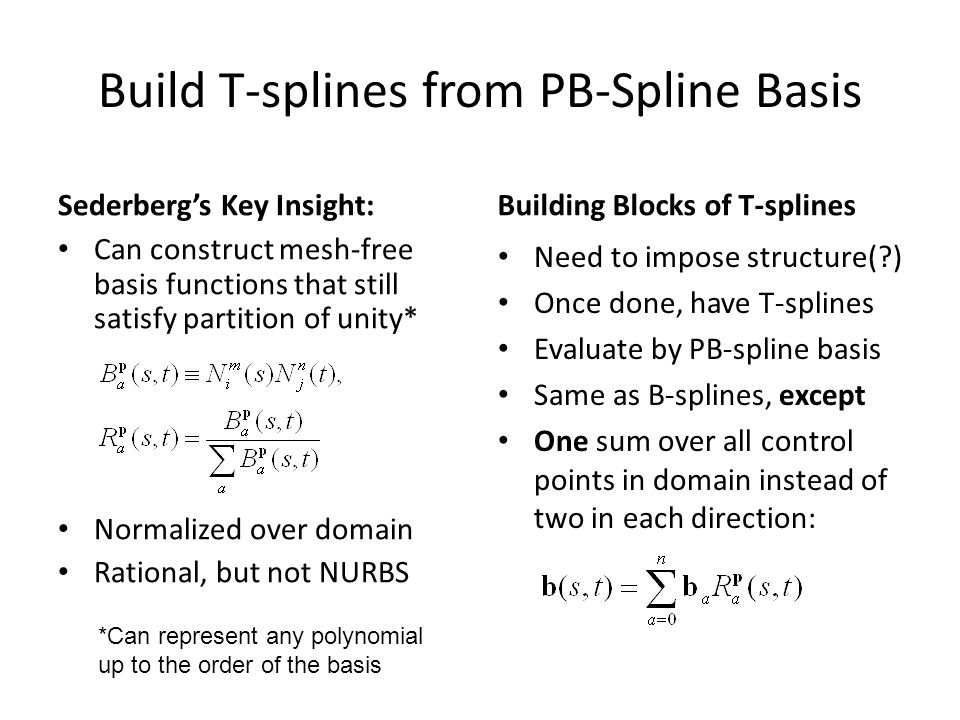 T-Splines and T-NURCCs - ppt video online download