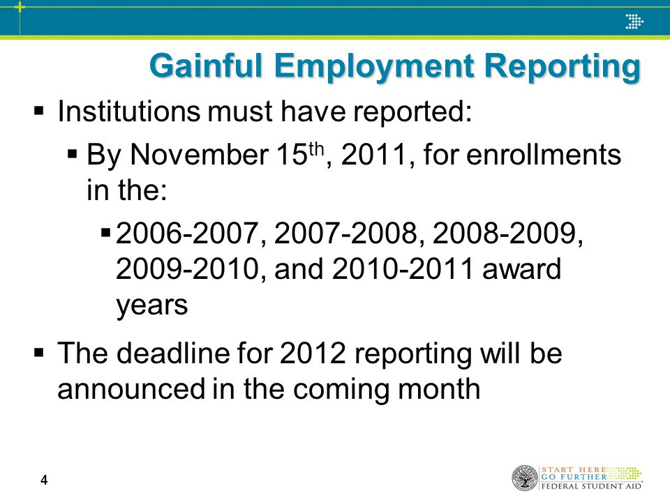 Errors and corrections in gainful employment reporting ppt video 4 gainful employment reporting maxwellsz