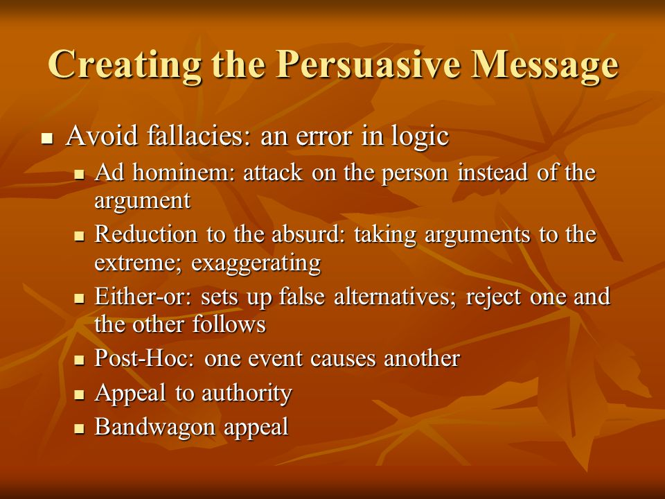 Creating the Persuasive Message