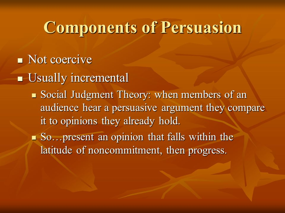 Components of Persuasion