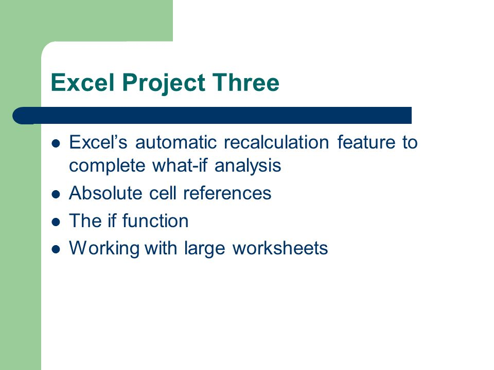 Whatif Analysis Charting And Working With Large Spreadsheets. 2 Excel Project Three Excel's Automatic Recalculation Feature To Plete Whatif Analysis Absolute Cell References. Worksheet. Spreadsheet Cell Reference Absolute Worksheet At Clickcart.co