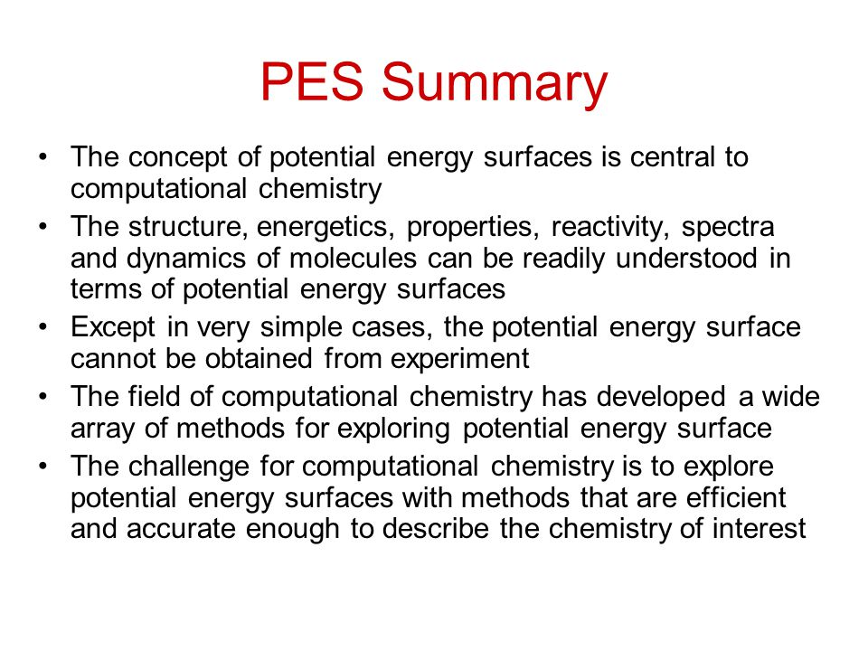 Potential Energy Surfaces - ppt video online download