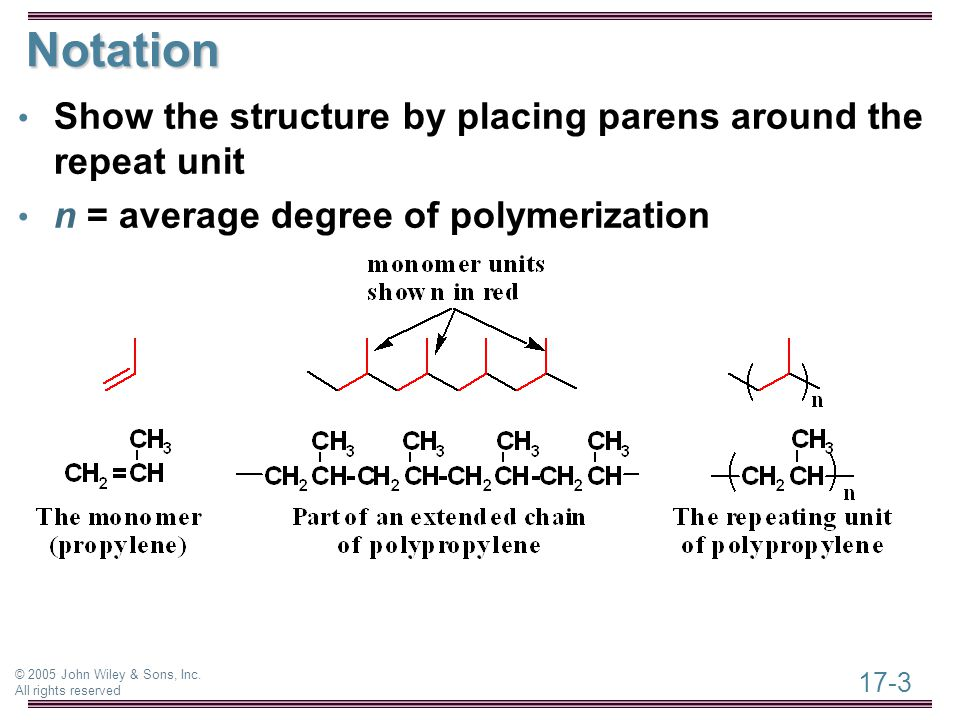 Chapter 17 Organic Polymer Chemistry Ppt Video Online