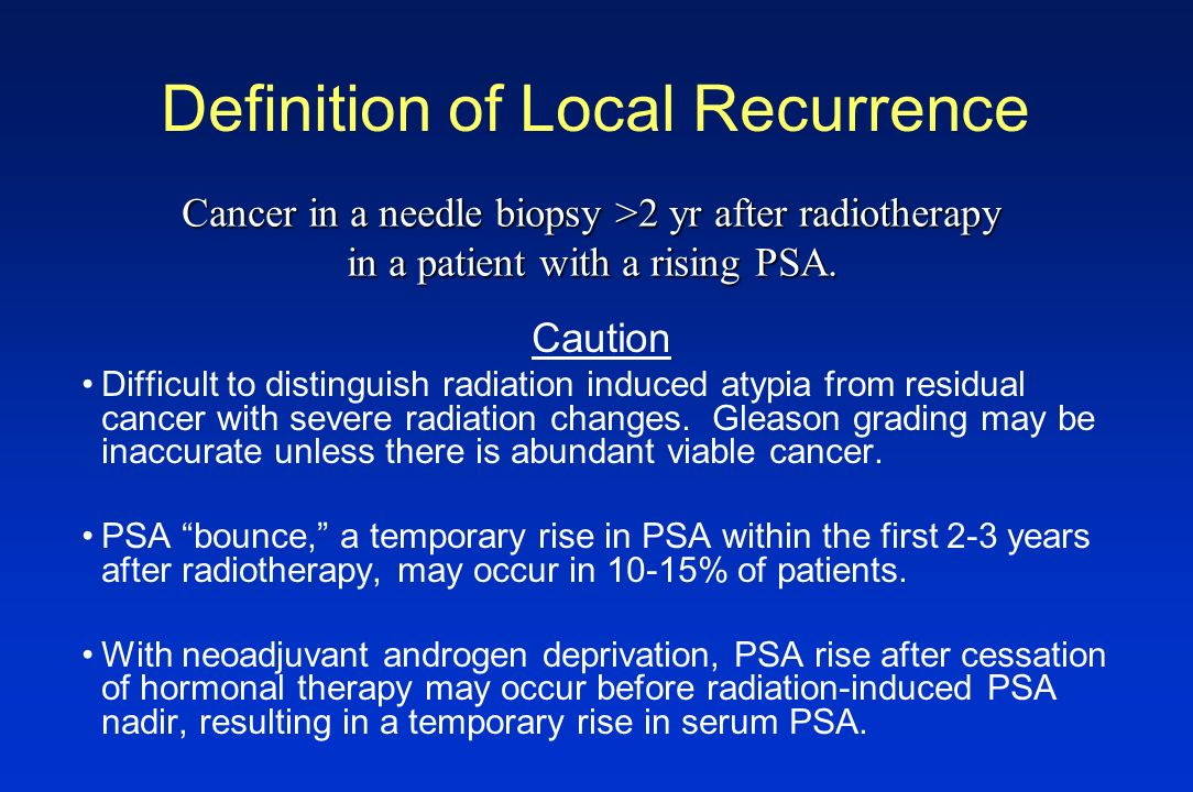 Definition of Local Recurrence