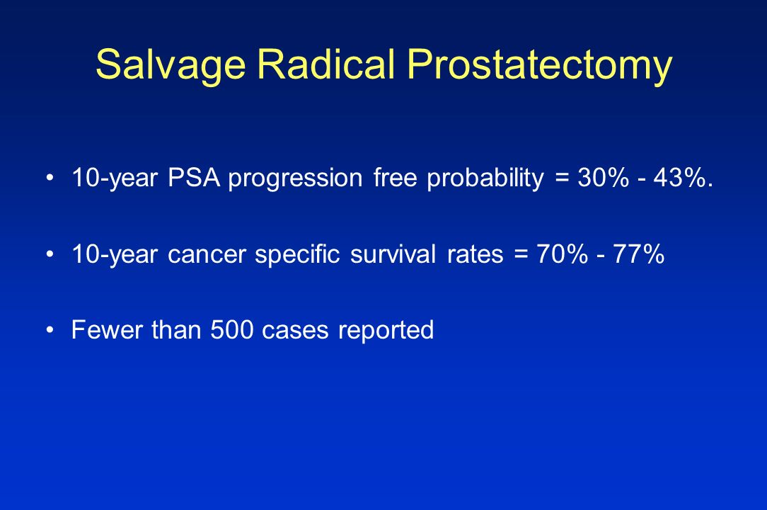 Salvage Radical Prostatectomy