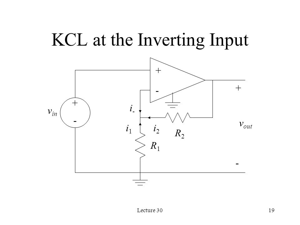 KCL at the Inverting Input