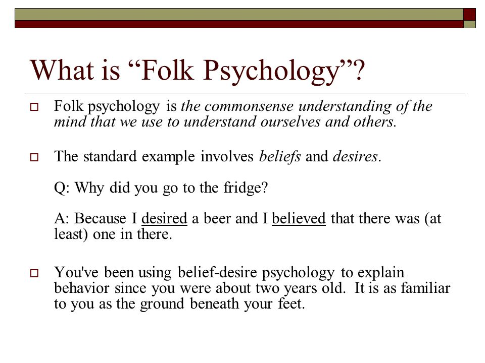 what does churchland mean by folk psychology