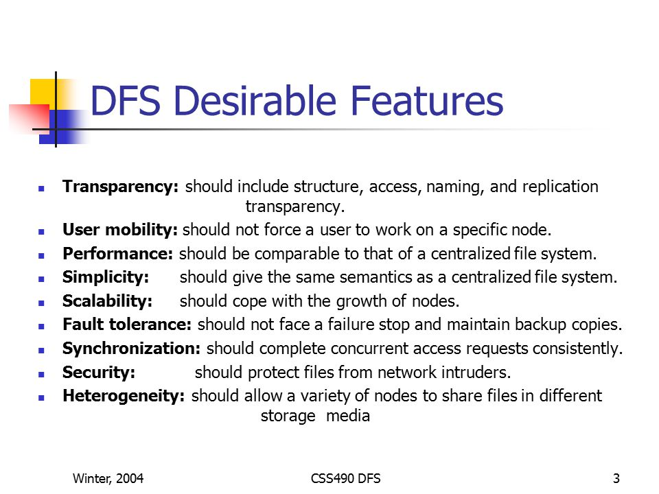 CSS490 Distributed File Systems - ppt video online download