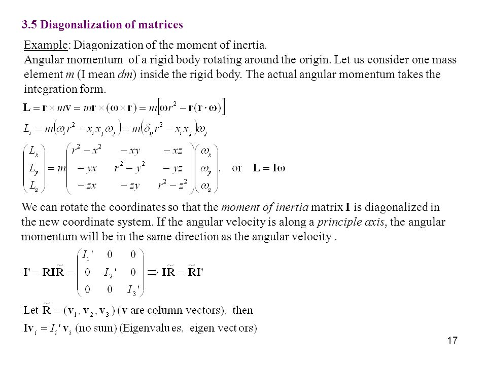 3.5 Diagonalization of matrices