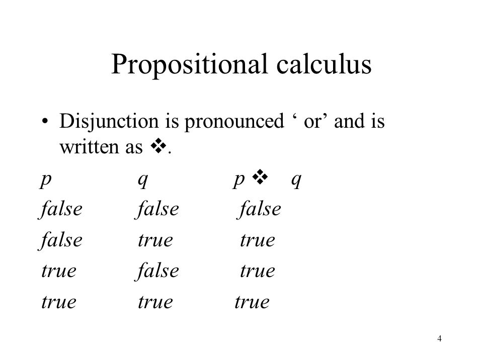 Propositional calculus