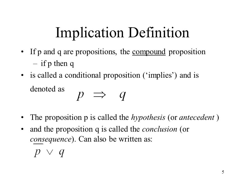Implication Definition