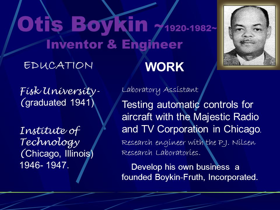 what did otis boykin invented