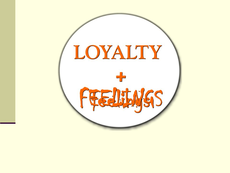 LOYALTY + FEELINGS feelings