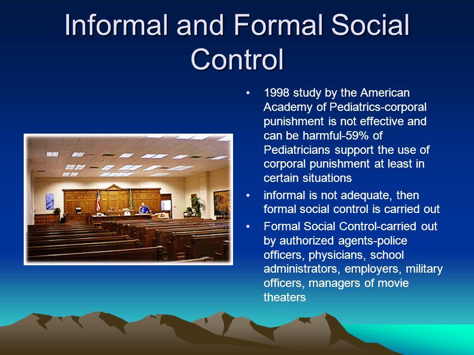 formal social control examples