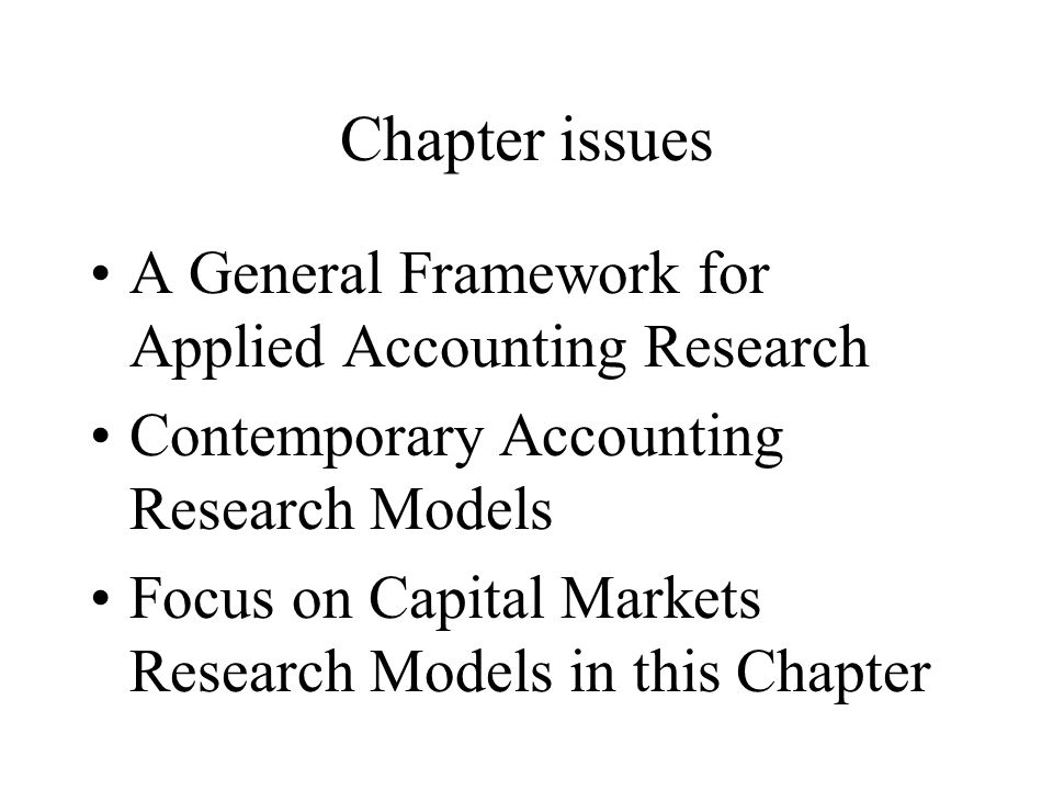 capital markets research in accounting pdf