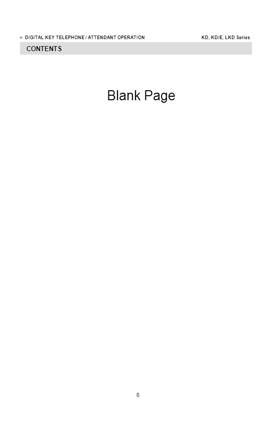 CONTENTS Blank Page