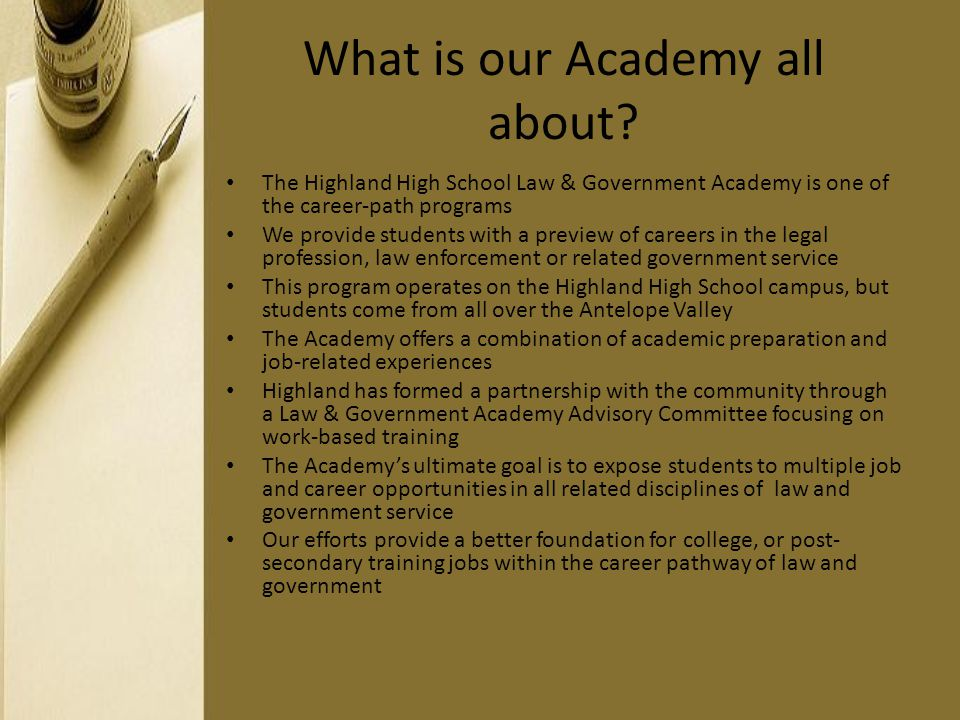 What is our Academy all about