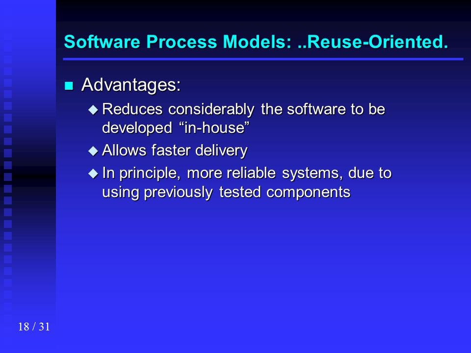 Software Process Models: ..Reuse-Oriented.