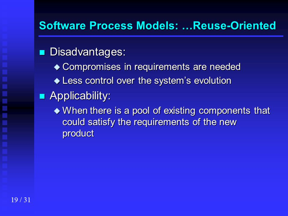 Software Process Models: …Reuse-Oriented