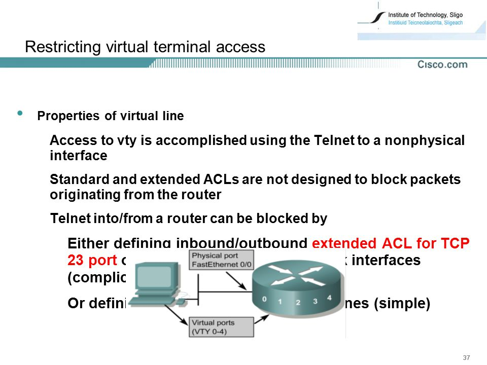 Restricting virtual terminal access