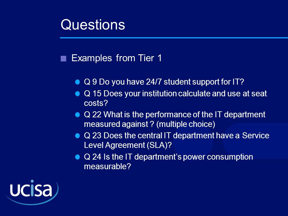 Questions Examples from Tier 1
