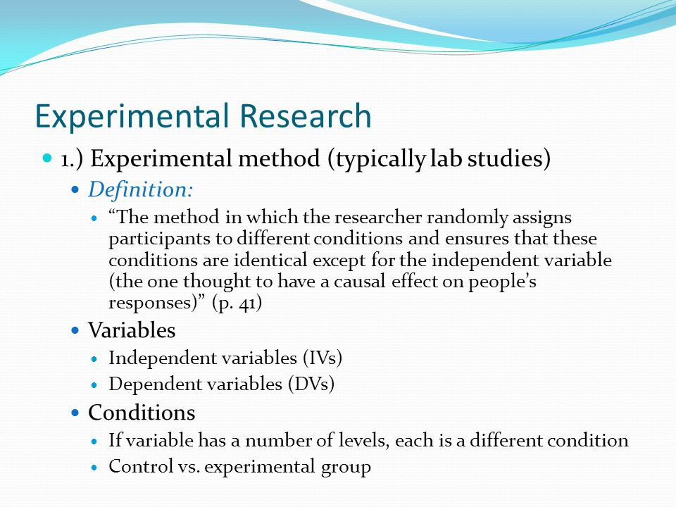 Experimental Research - A Guide to Scientific Experiments