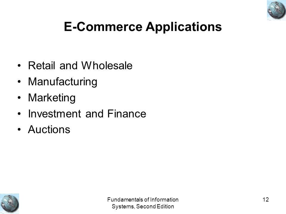 E-Commerce Applications