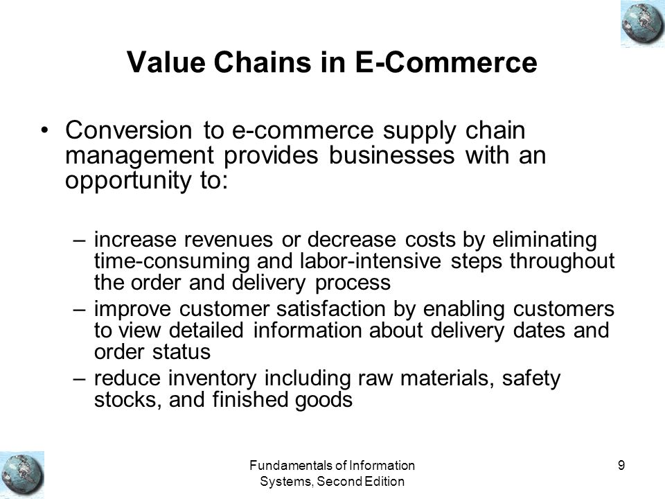 Value Chains in E-Commerce