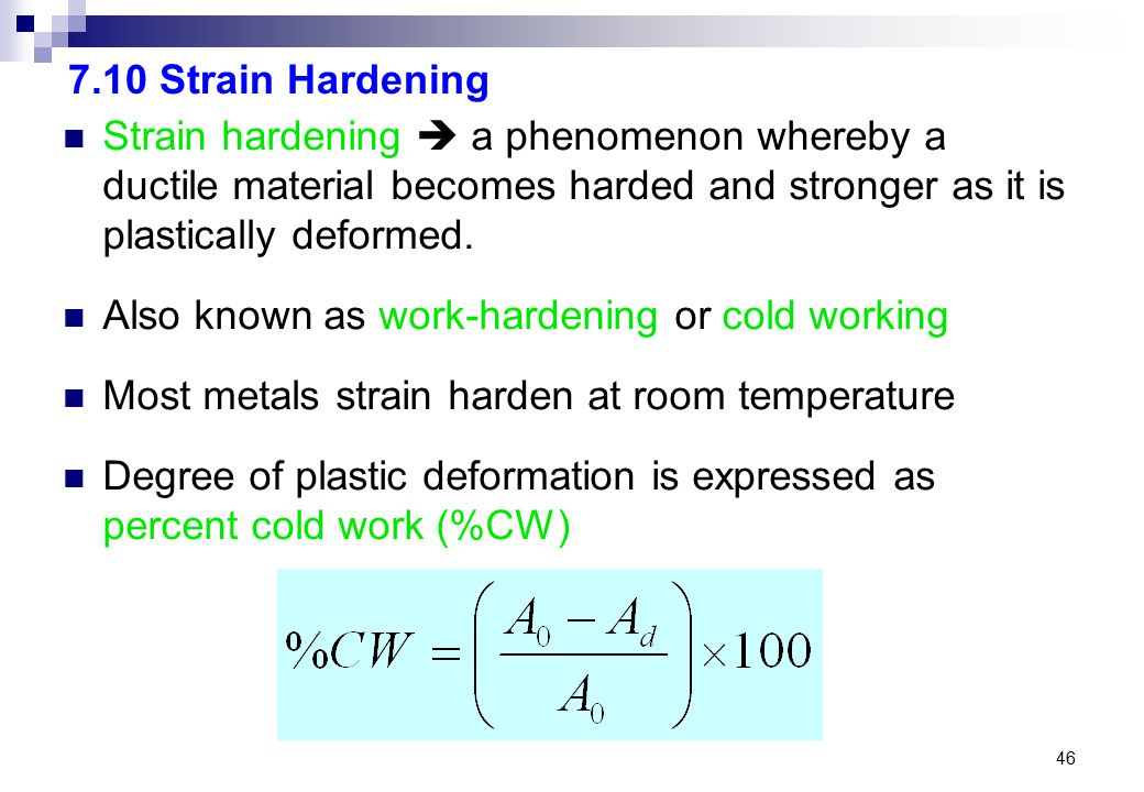 how to work harden a metal