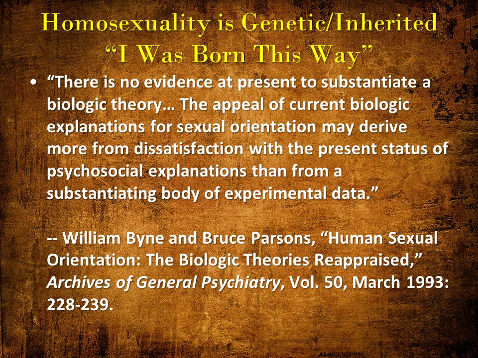 Homosexuality is an inherited behaviour