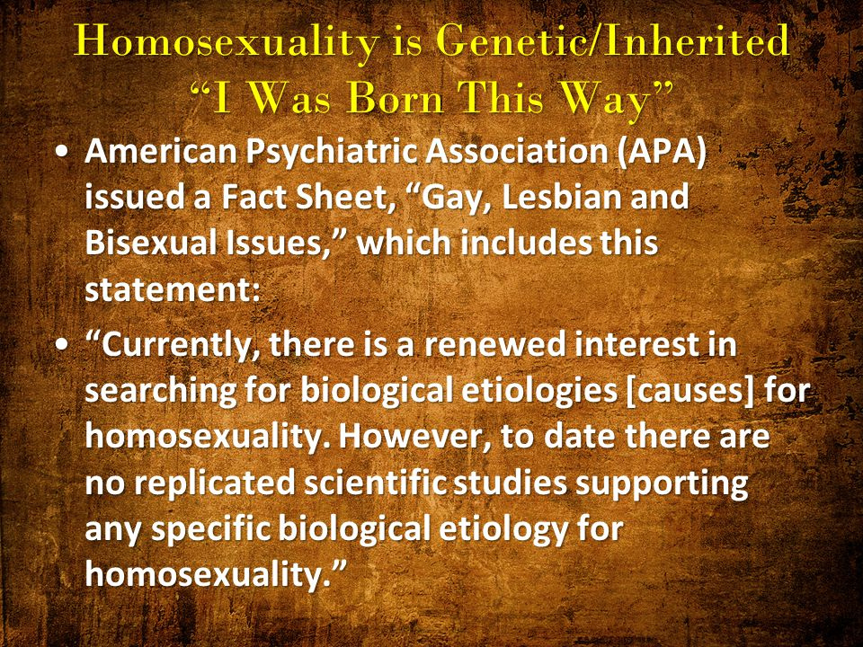 Homosexuality genetic markers