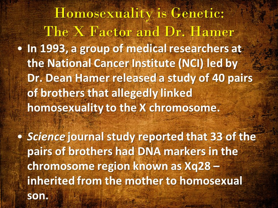 homosexuality and genetics research