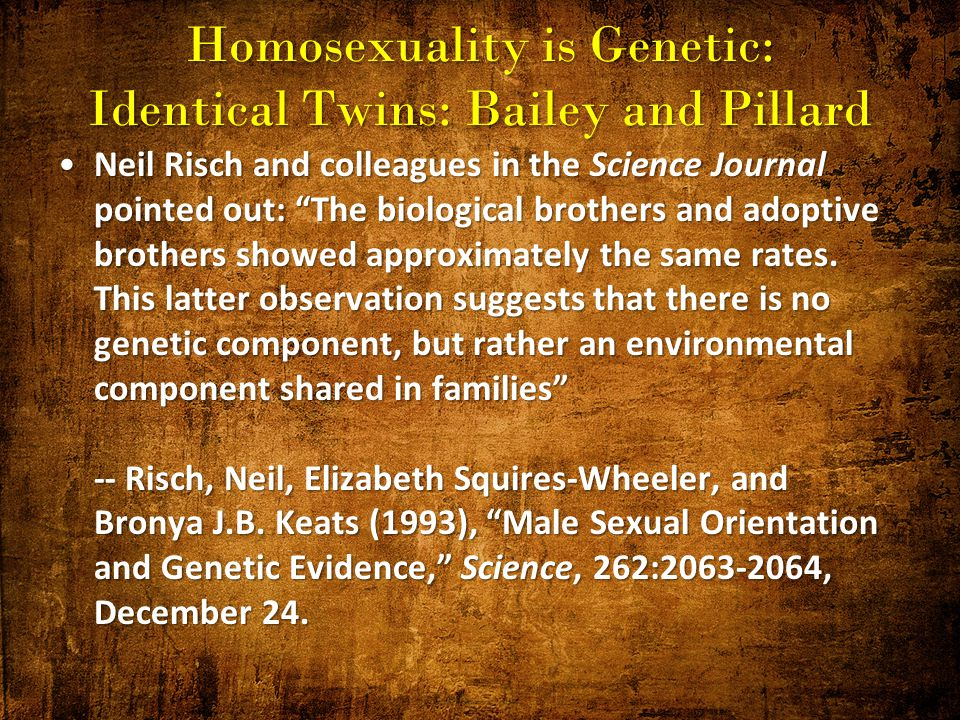 Homosexuality genetic or choice