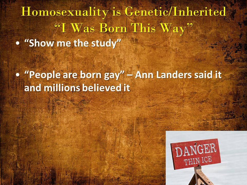 Genetically determined homosexuality in christianity