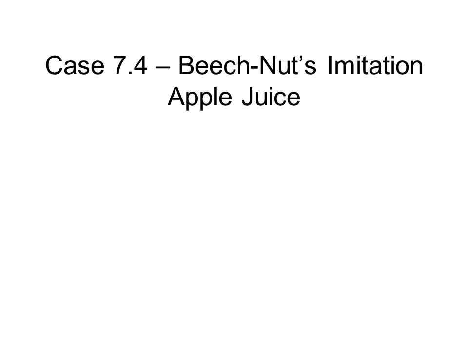 beech nut case study ethics