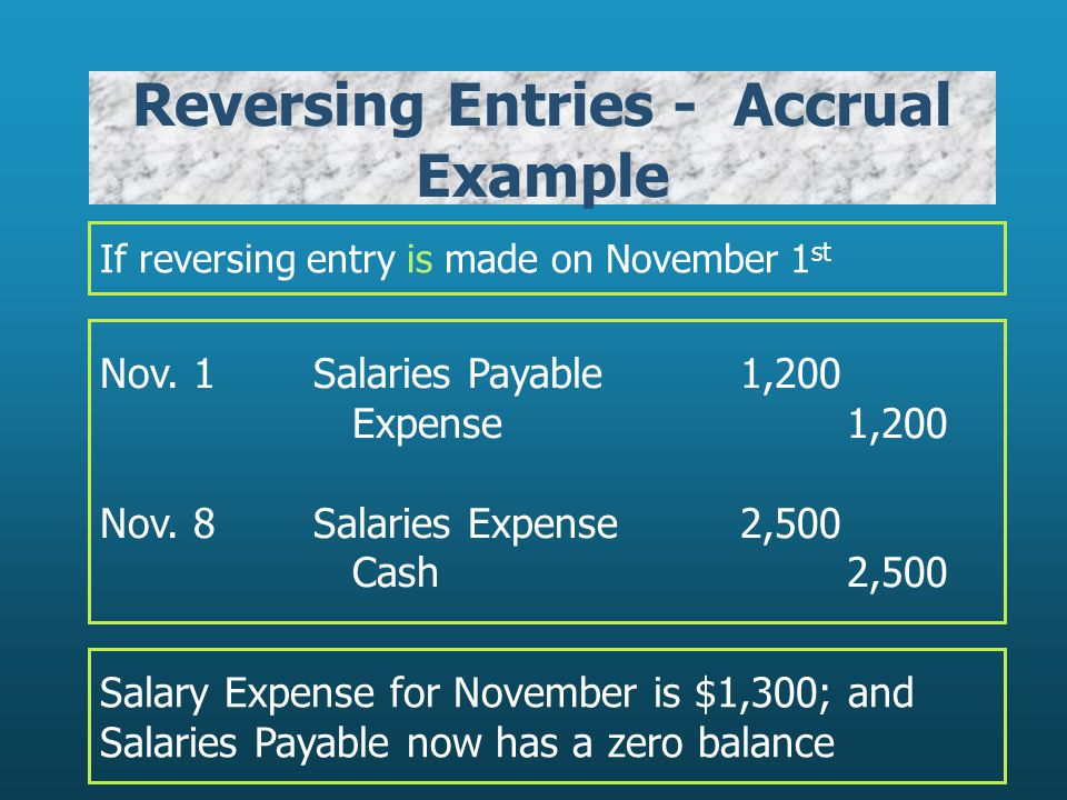 Reversing Entries - Accrual Example