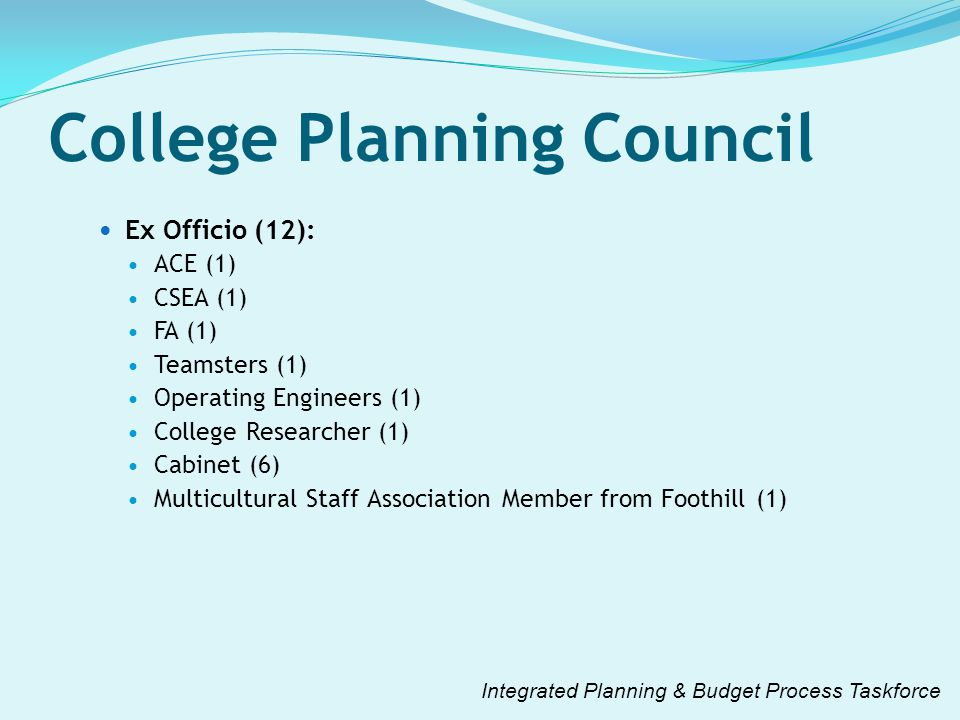 College Planning Council