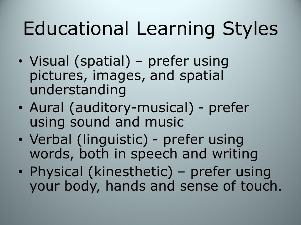 Educational Learning Styles