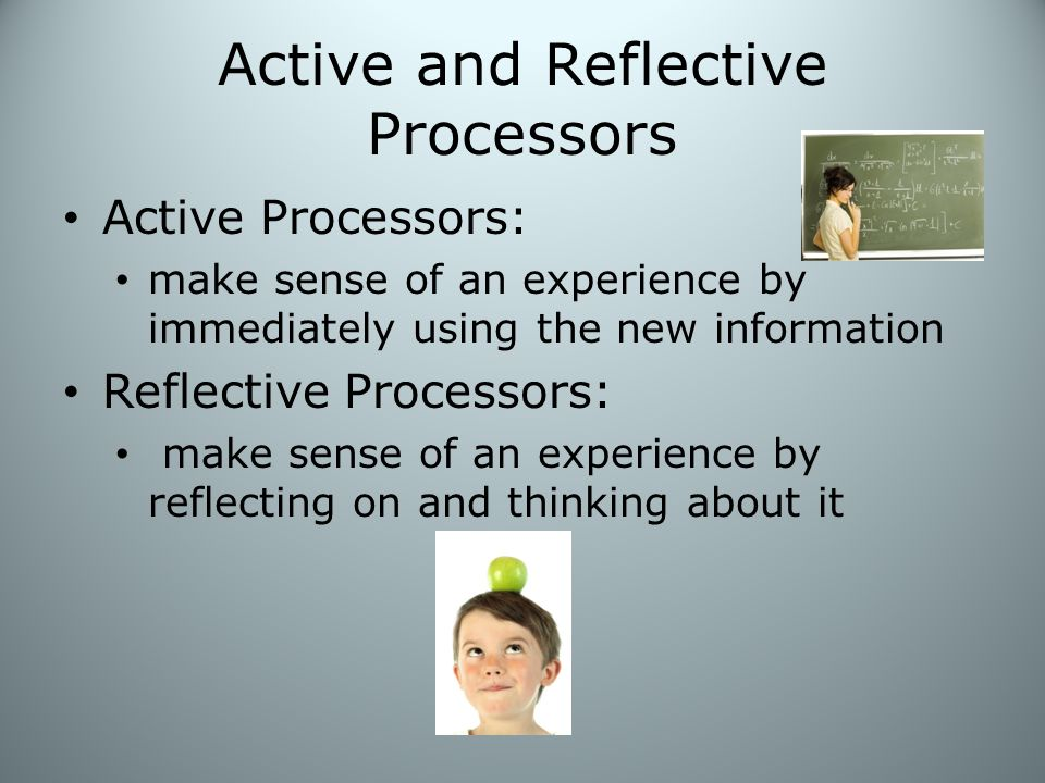 Active and Reflective Processors