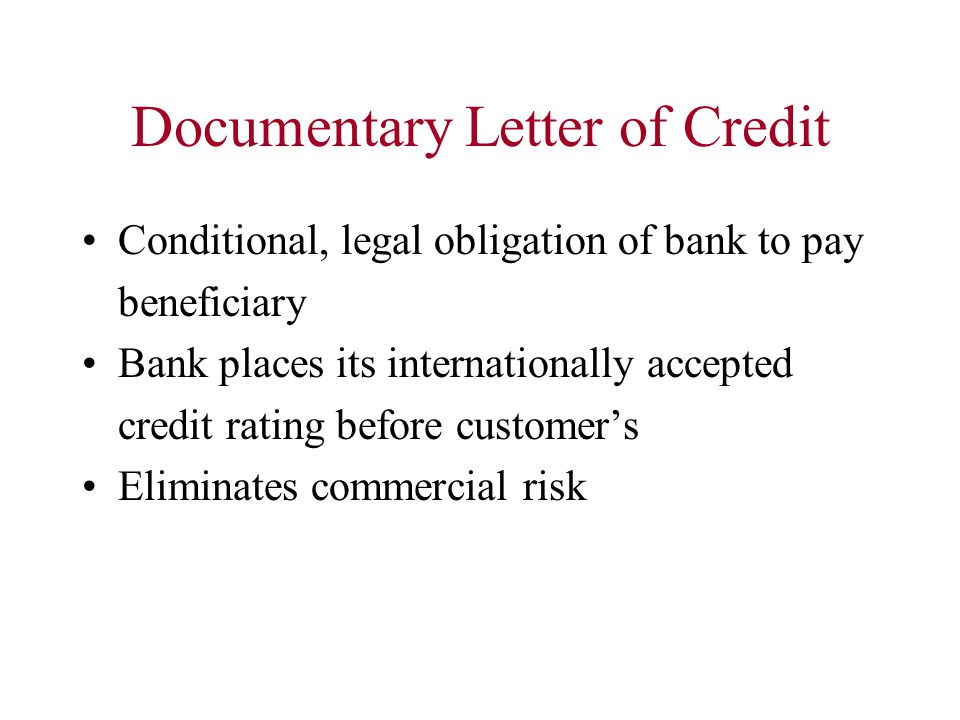 Documentary Letter of Credit