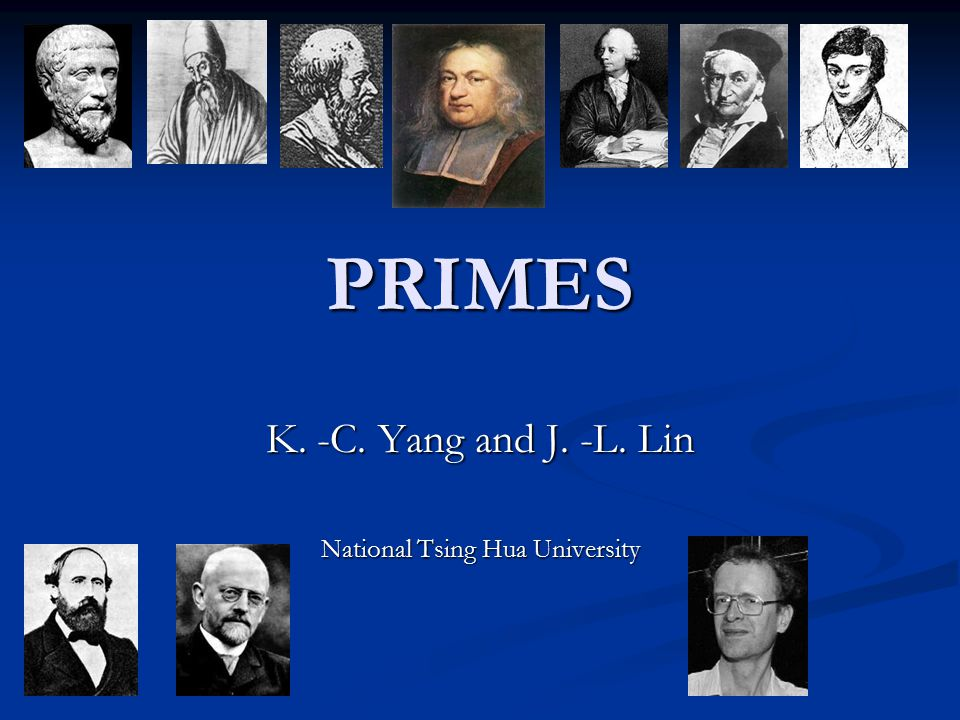 K. -C. Yang and J. -L. Lin National Tsing Hua University
