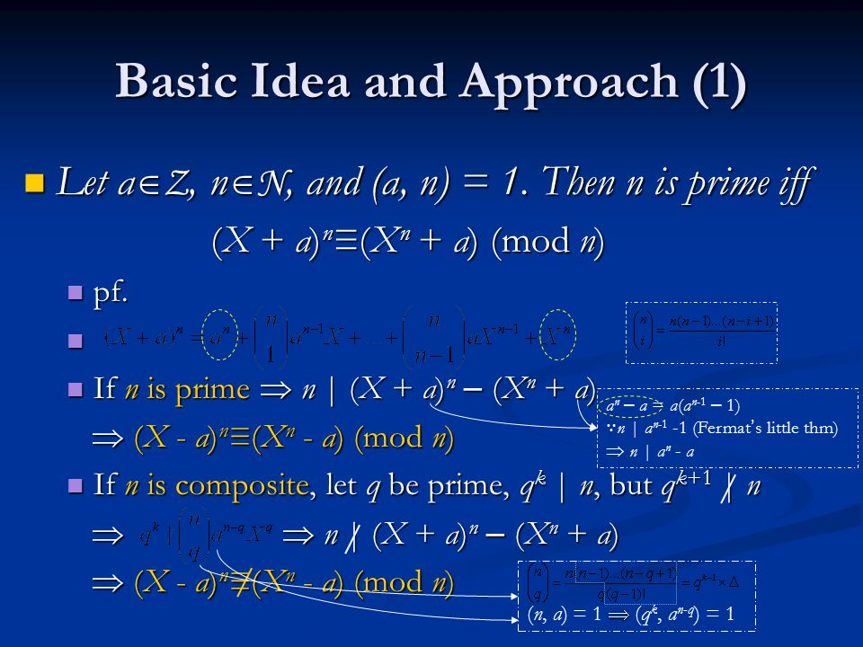 Basic Idea and Approach (1)