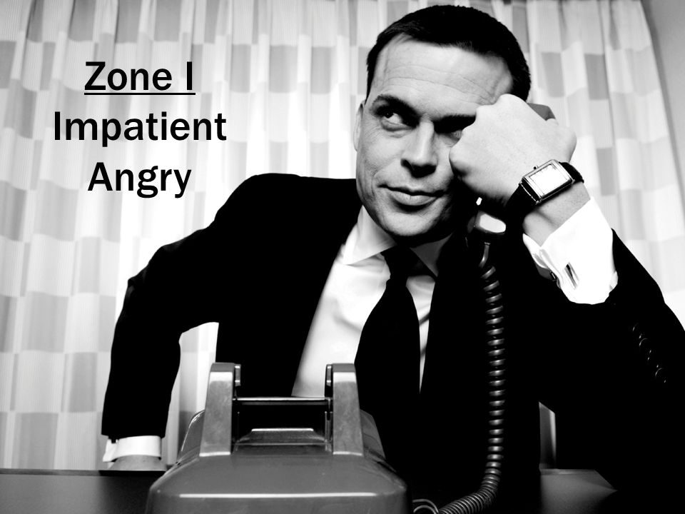 Zone I Impatient Angry