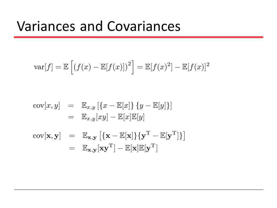 Variances and Covariances