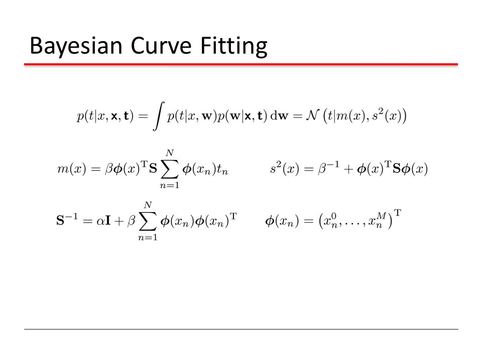 Bayesian Curve Fitting