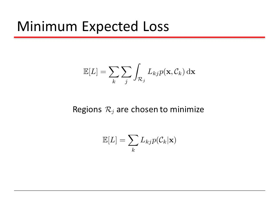 Minimum Expected Loss Regions are chosen to minimize