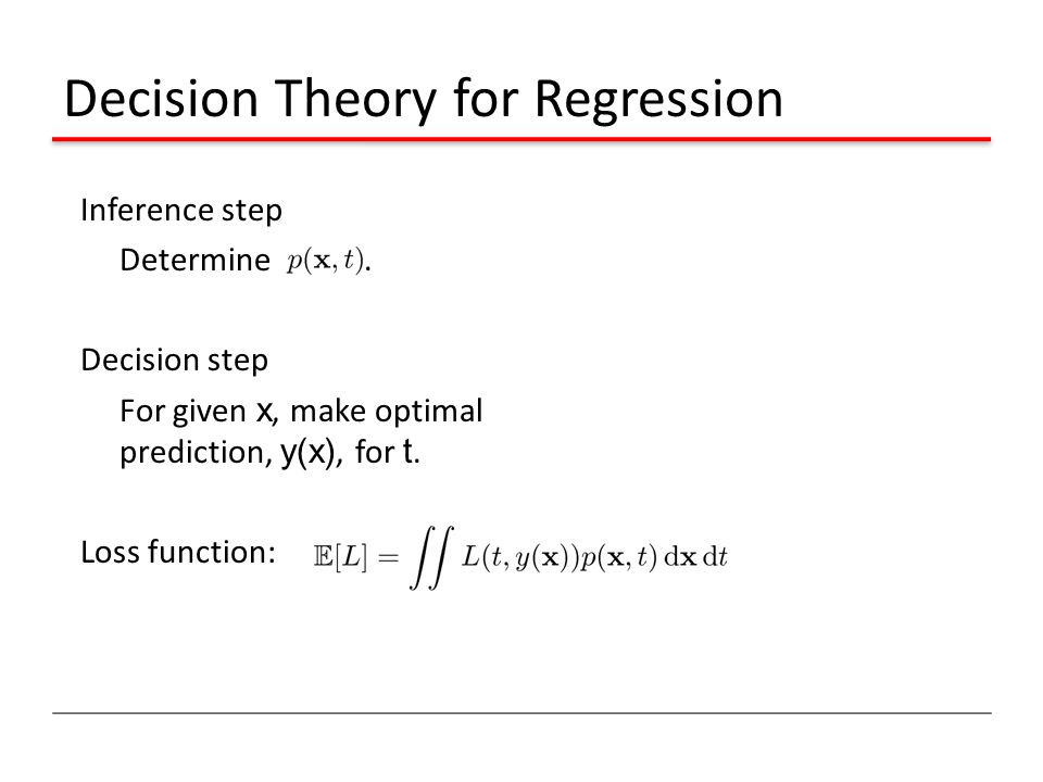 Decision Theory for Regression