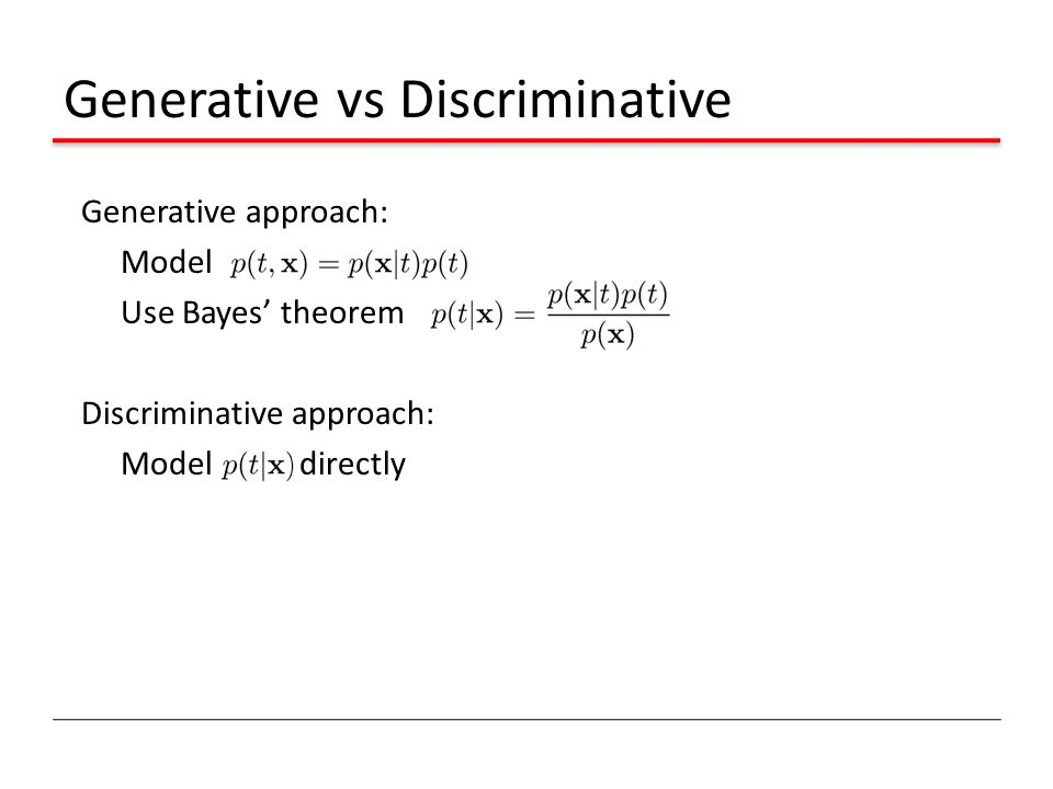 Generative vs Discriminative